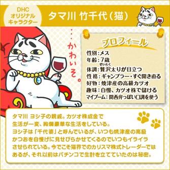 DHC オリジナル キャラクター タマ川 竹千代(猫)