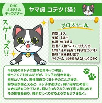 DHC オリジナル キャラクター ヤマ崎 コテツ(猫)