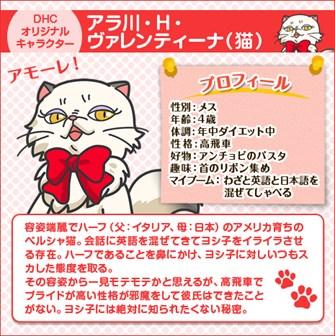DHC オリジナル キャラクター アラ川・H・ヴァレンティーナ(猫)